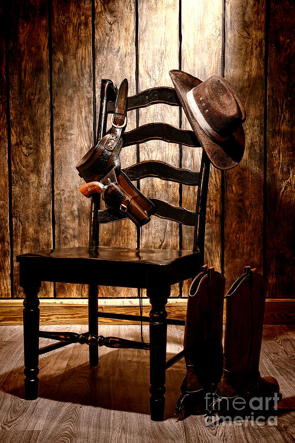 Western Photograph - The Cowboy Chair by Olivier Le Queinec
