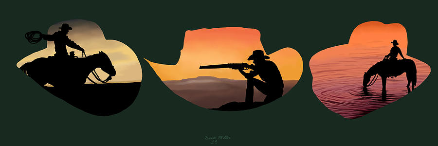 Nature Painting - The Cowboy Way by Brien Miller