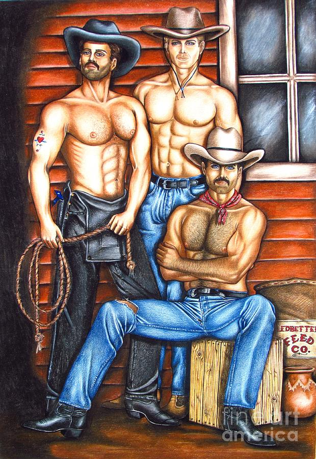 Cowboy Drawing - The Cowboy Way by Joseph Sonday