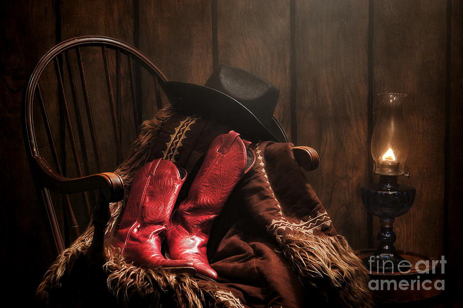 Cowgirl Boots Photograph - The Cowgirl Rest by Olivier Le Queinec