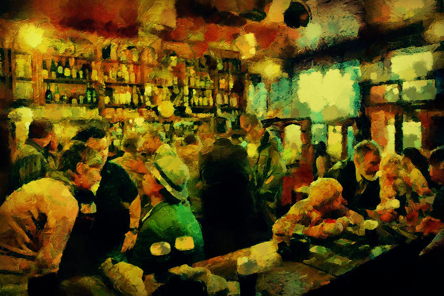 Ireland Painting - The Craic Was Mighty  by Janice MacLellan