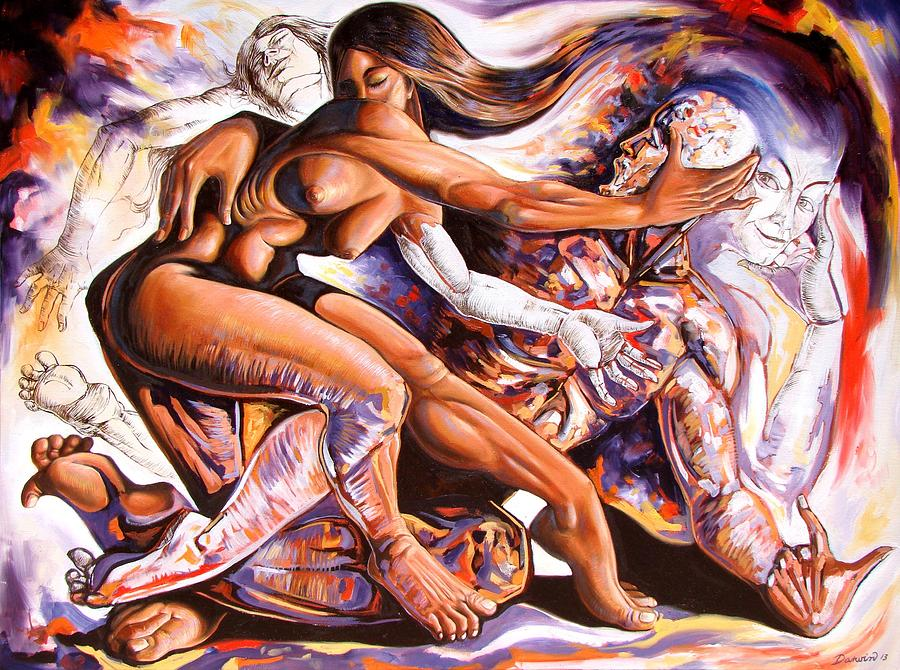 Figurative Painting - The creation of desire by Darwin Leon