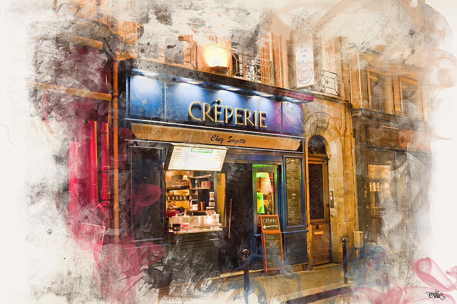 Arch Photograph - The Creperie by Evie Carrier