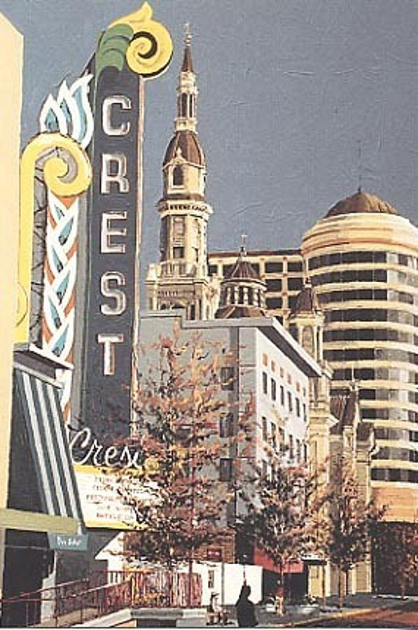 Sacramento Painting - The Crest by Paul Guyer