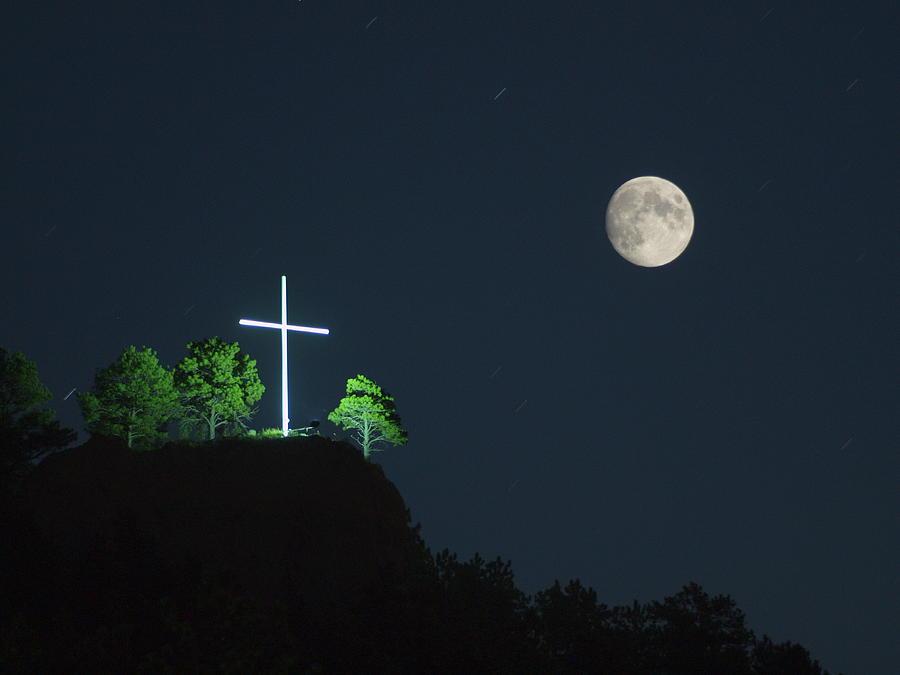 Картинки крест с луной