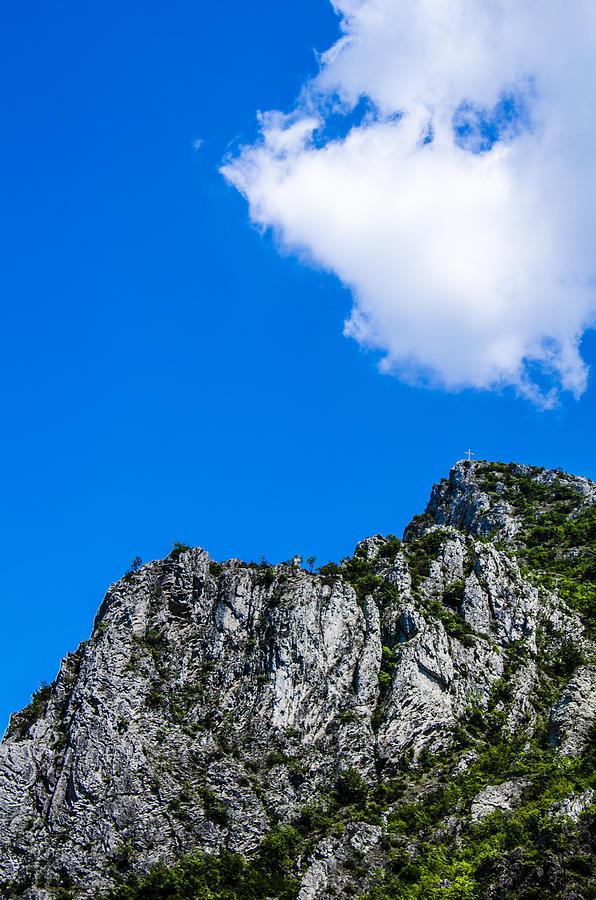 Hill Photograph - The Cross by Sotiris Filippou