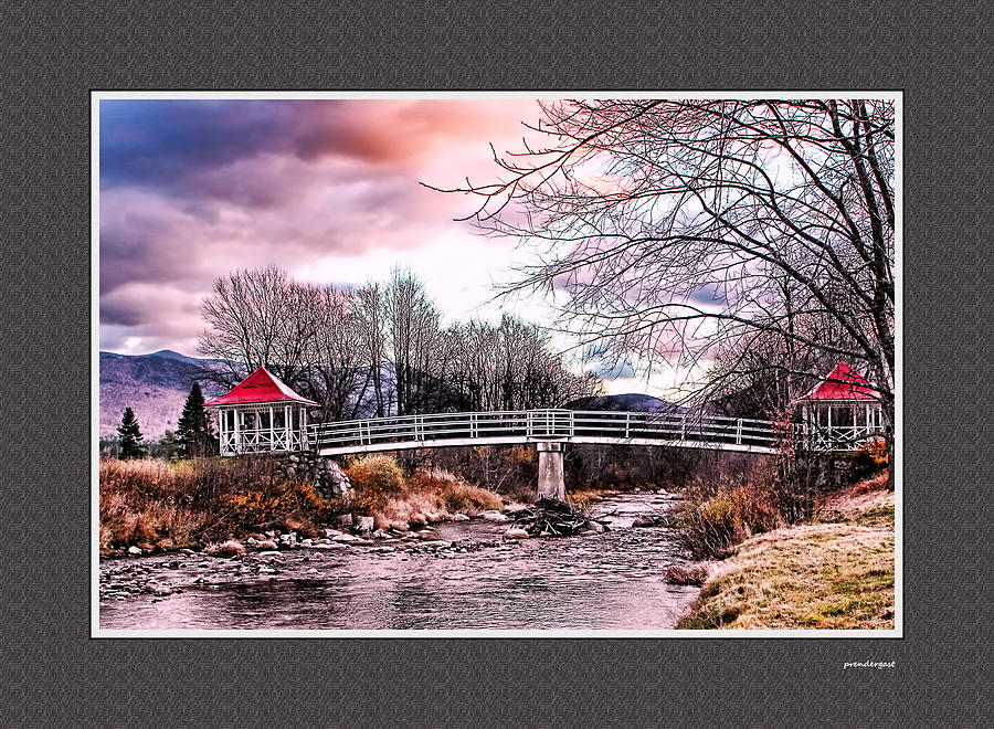New England Photograph - The Crossing II Brenton Woods Nh by Tom Prendergast