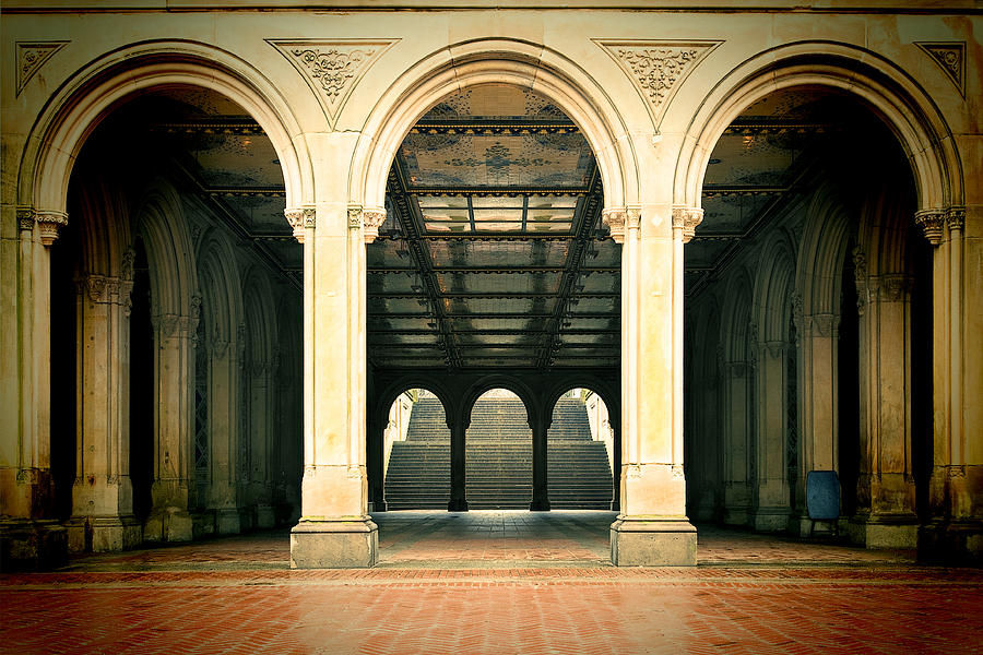 Bethesda Terrace Photograph - The Crossing by Joanna Madloch