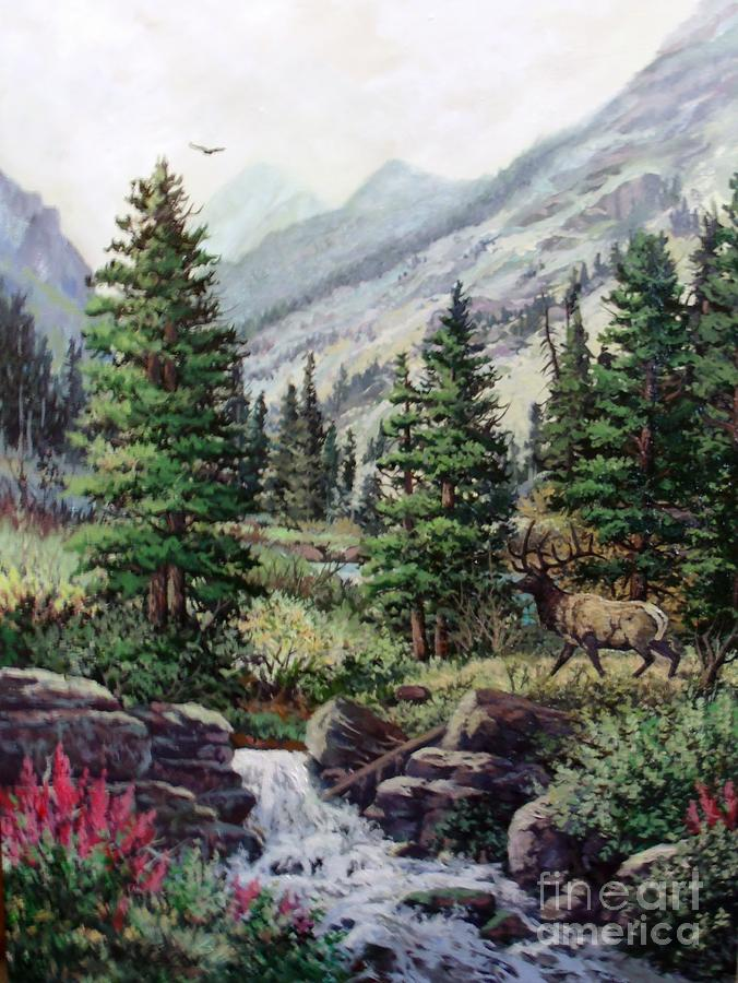 Nature Painting - The Crossing by W  Scott Fenton