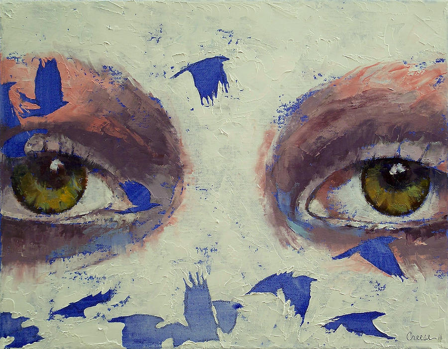 The Painting - The Crow Is My Only Friend by Michael Creese