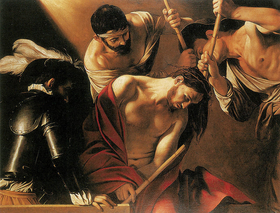 Caravaggio Painting - The Crowing With Thorns by Caravaggio
