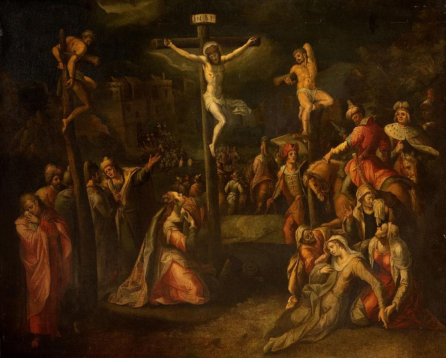 The Crucifixion 1550 1700 Painting By Flemish School