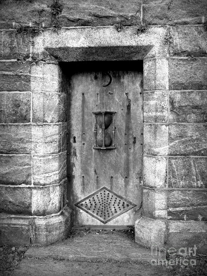 Hourglass Photograph - The Crypt Door by Avis  Noelle