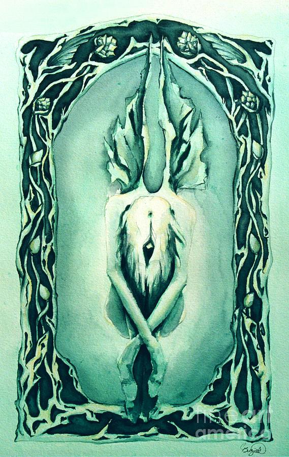 Celtic Painting - The Crysalis by Cari Buziak