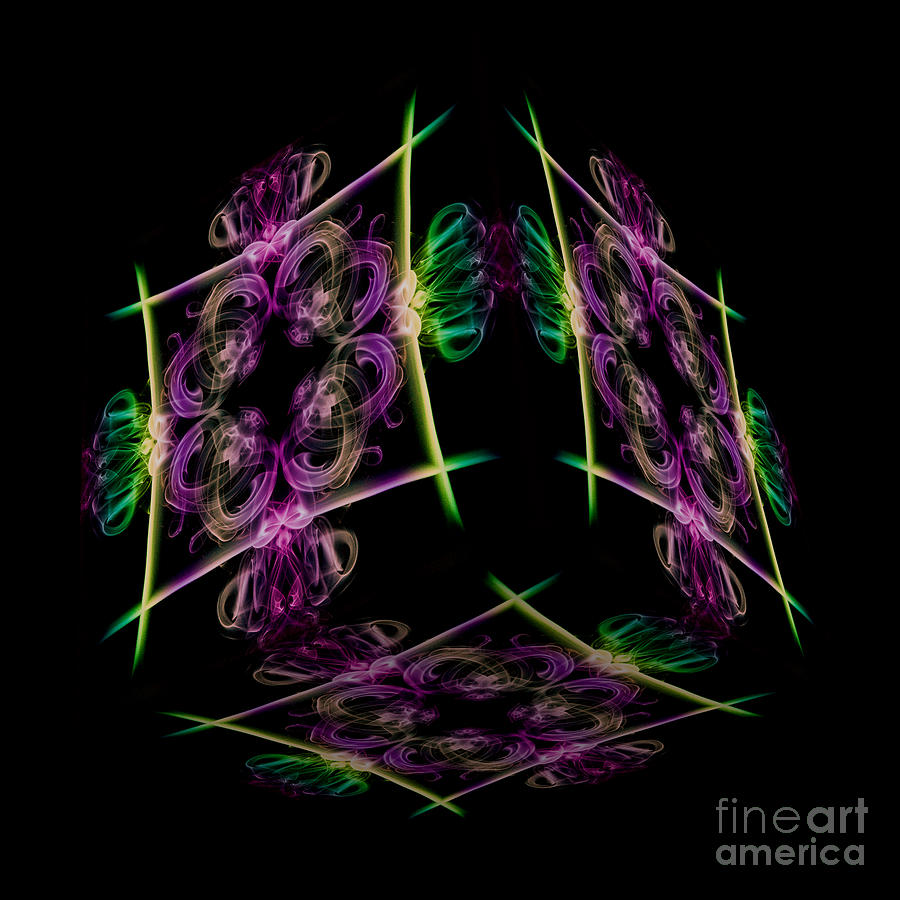 Smoke Trail Photograph - The Cube 7 by Steve Purnell