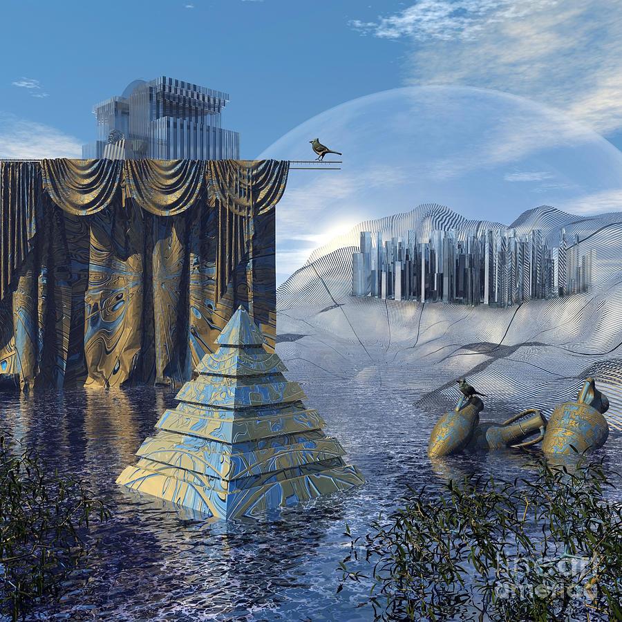 3d Digital Art - The Curtain Falls by Diuno Ashlee