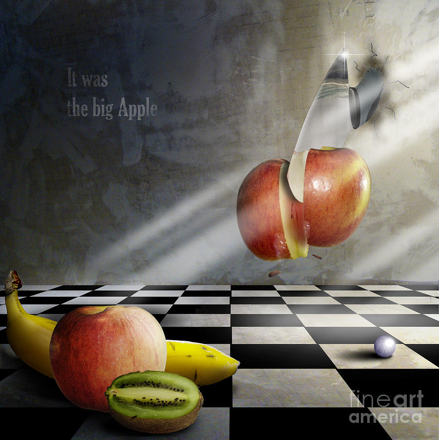 Apple Photograph - The Cut by Bruno Santoro