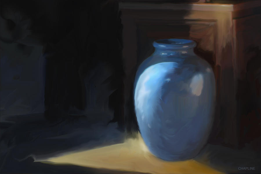 Blue Vase by Curtis Chapline