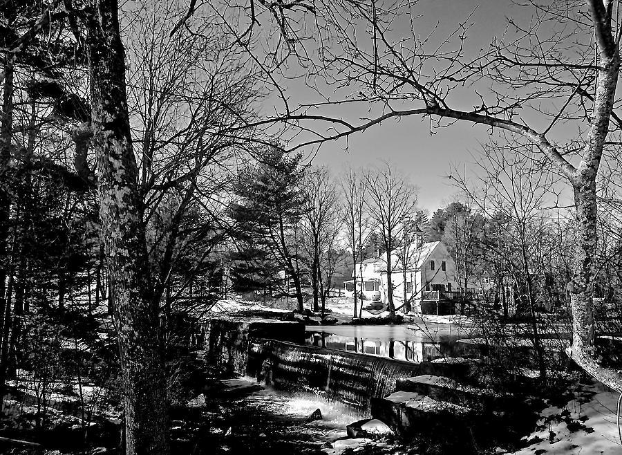 The Dam At Chocorua In Winter Photograph by Elizabeth Tillar