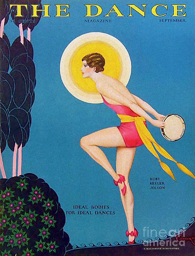 Covers Drawing - The Dance  1929 1920s Usa Ruby Keeler by The Advertising Archives