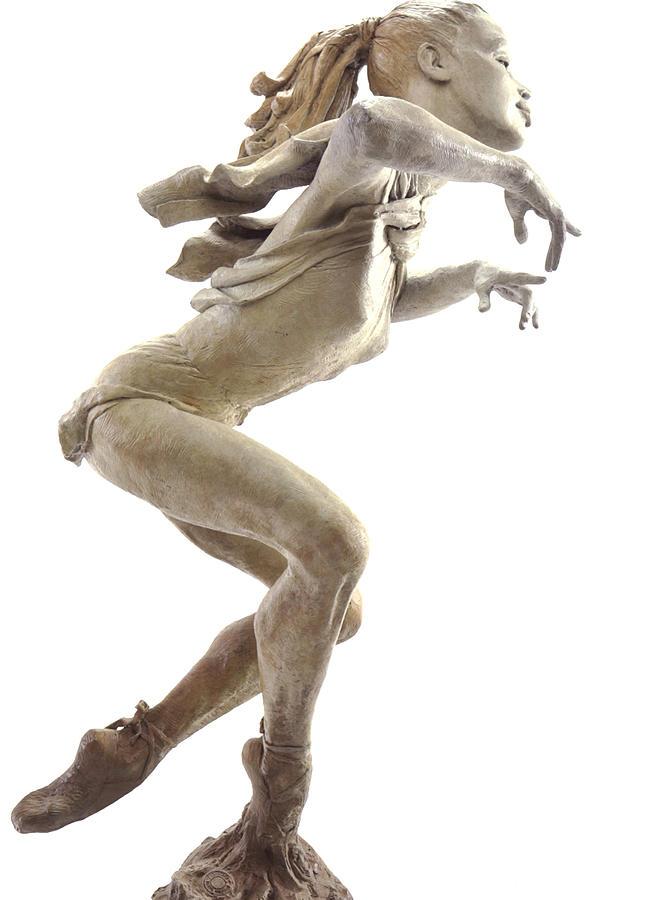 Figurative Sculpture Sculpture - The Ballet Lesson by Tsvetana Yvanova
