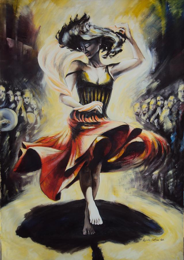 Dance Painting - The Dance Of The Tarantula.. by Alessandra Andrisani