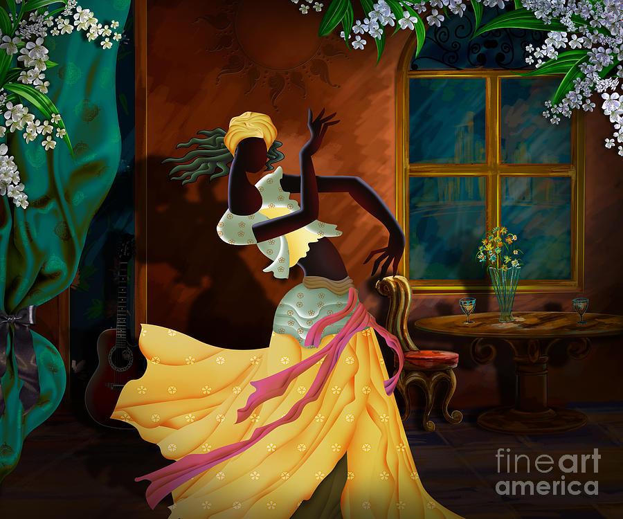 Digital Digital Art - The Dancer Act 1 by Peter Awax