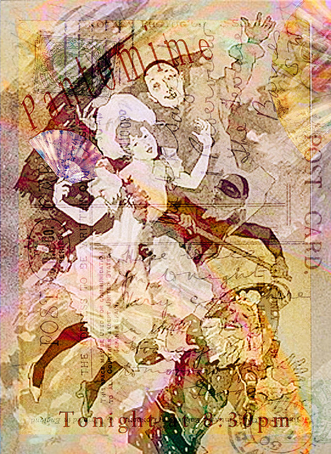 Xmas Digital Art - The Dancer and the Pierrot by Sarah Vernon