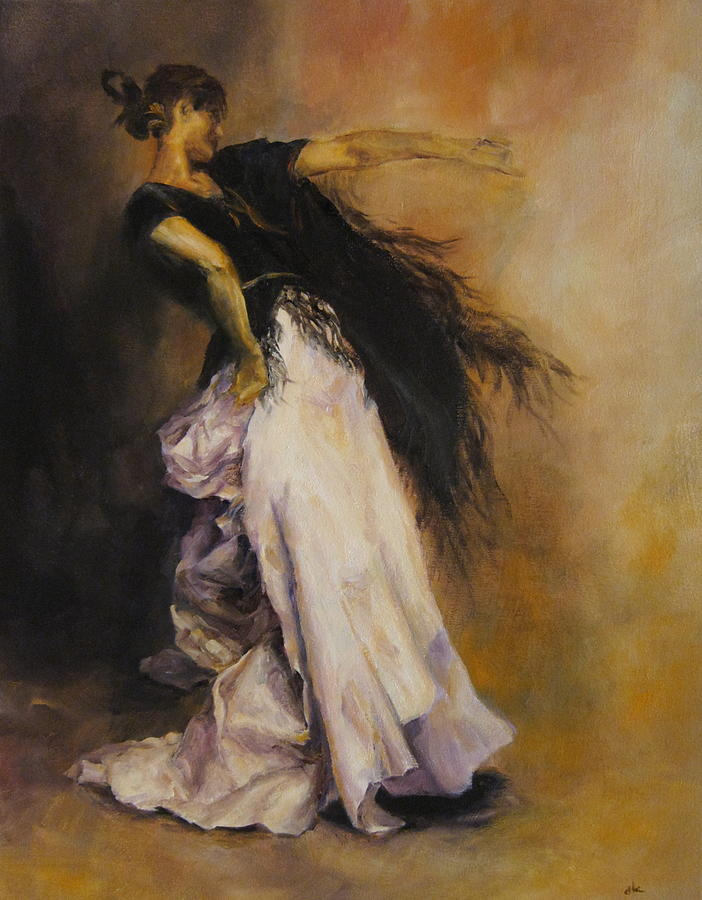 Women Painting - The Dancer by Diane Kraudelt