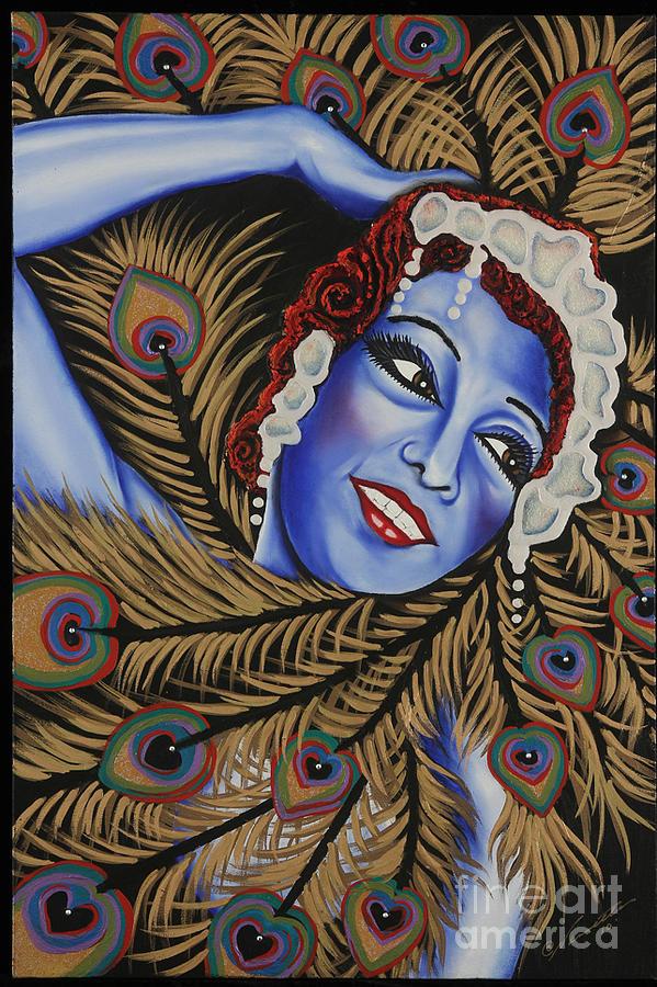 Portrait Painting - The Dancer Josephine Baker by Nannette Harris