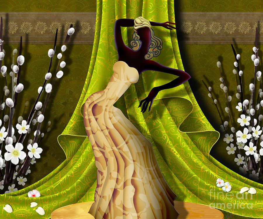 Digital Digital Art - The Dancer V3 by Bedros Awak