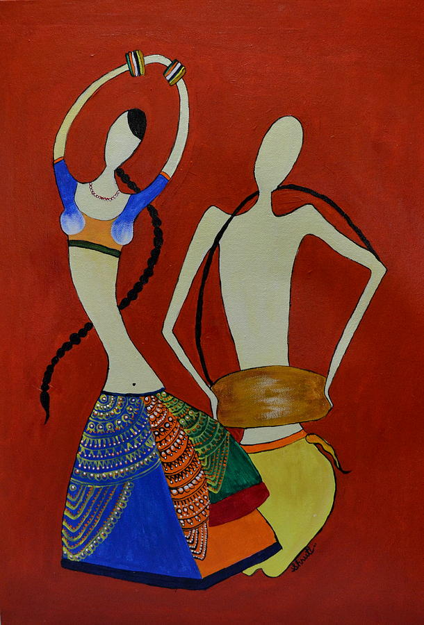 India Painting - The Dancing Lady by Shruti Prasad