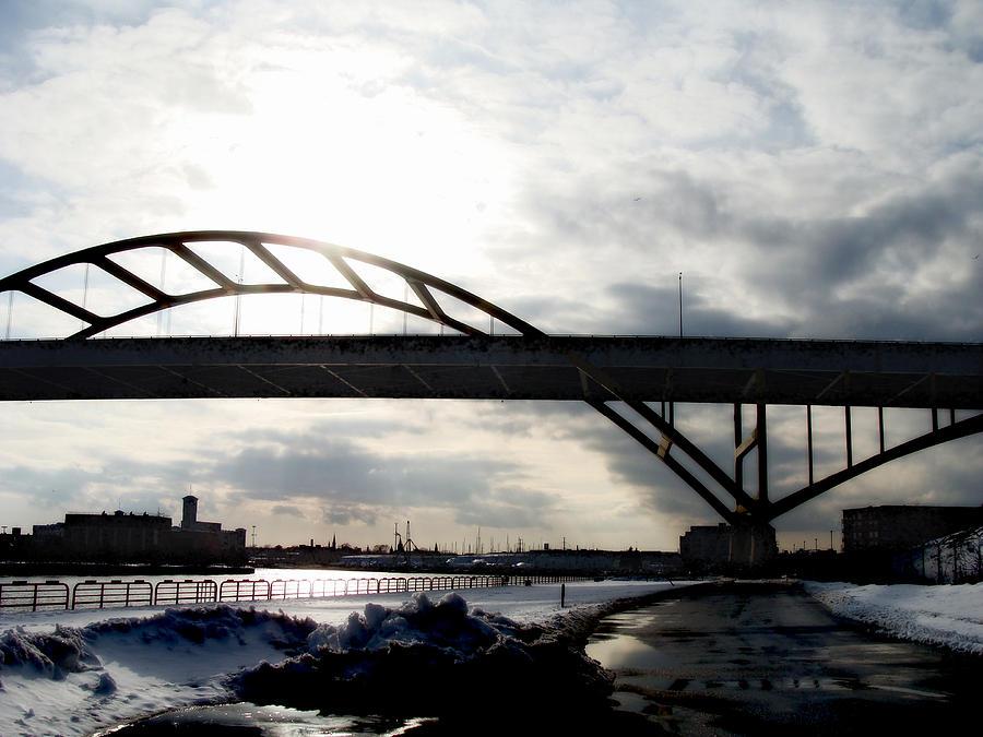 Hoan Digital Art - The Daniel Hoan Memorial Bridge by David Blank