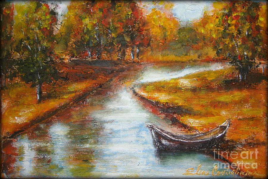 Autumn Painting - The Danube Delta  by Elena  Constantinescu