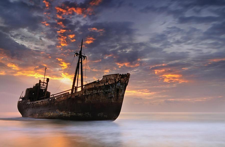 Shipwreck Photograph - The Dark Traveler II by Mary Kay