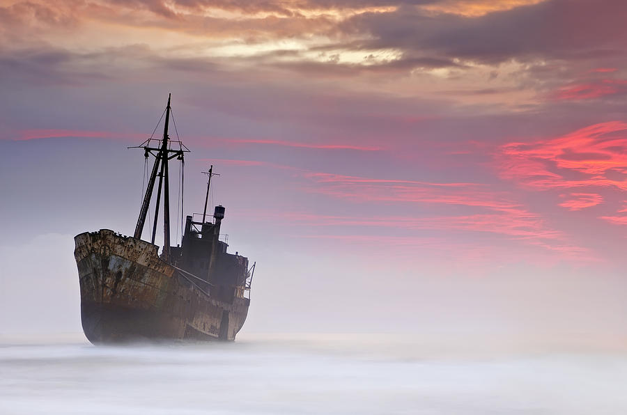 Shipwreck Photograph - The Dark Traveler by Mary Kay