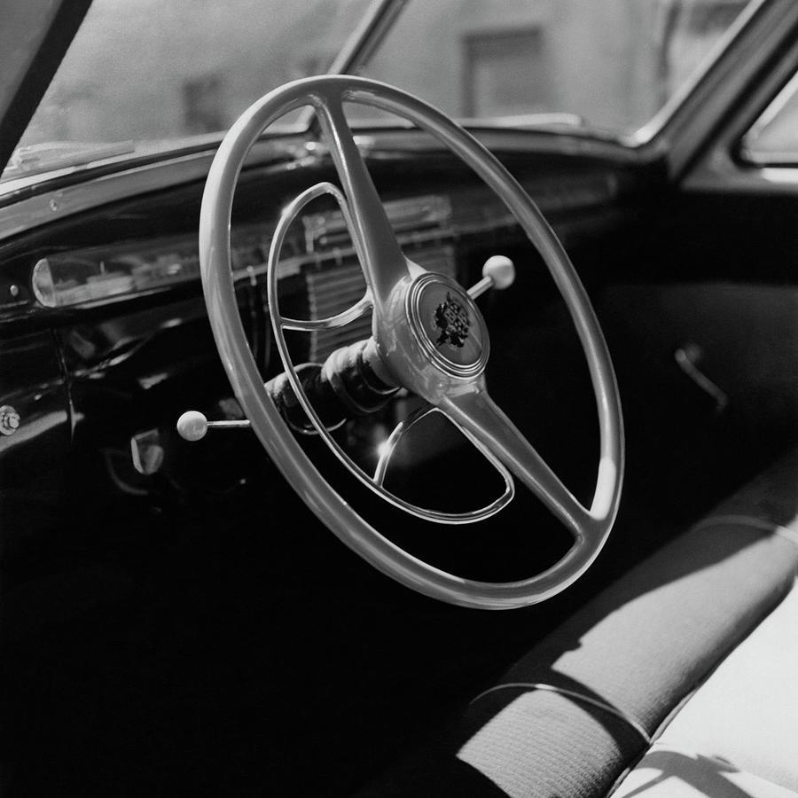 The Dashboard Of A Frazer Sedan Photograph by Constantin Joffe