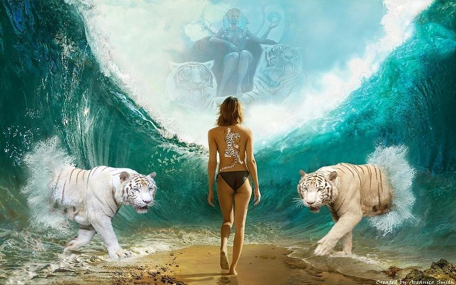 Water Digital Art - The Daughter Of Nature by Arcanico Luca Smith Acquaviva