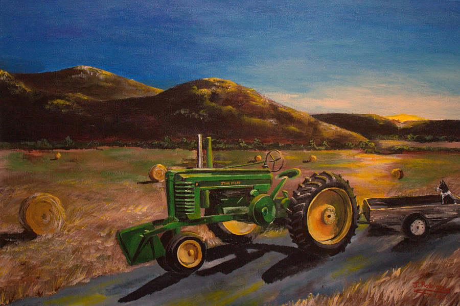 John Deere Painting - The Dawn Of A New Day by Julia Robinson