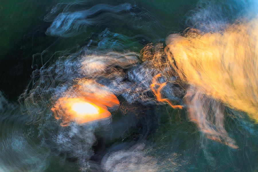 Abstract Photograph - The Dawn Of Time by Steve Belovarich