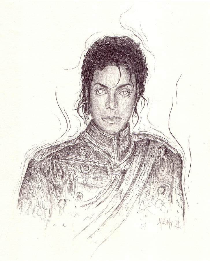 Michael Jackson Drawing - The Day After by Michael Morgan