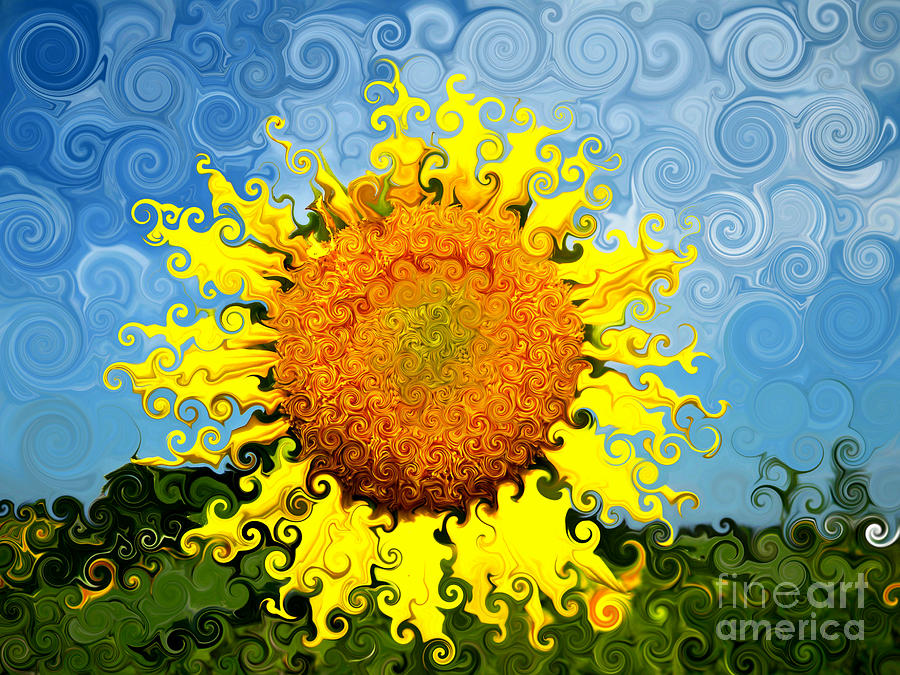 Flower Photograph - The Day Of The Sunflower by Lorraine Heath