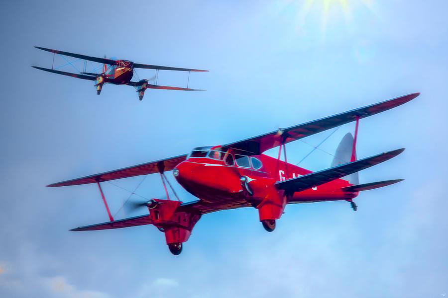 De Havilland Photograph - The De Havilland Dh90 Dragonfly by Chris Lord