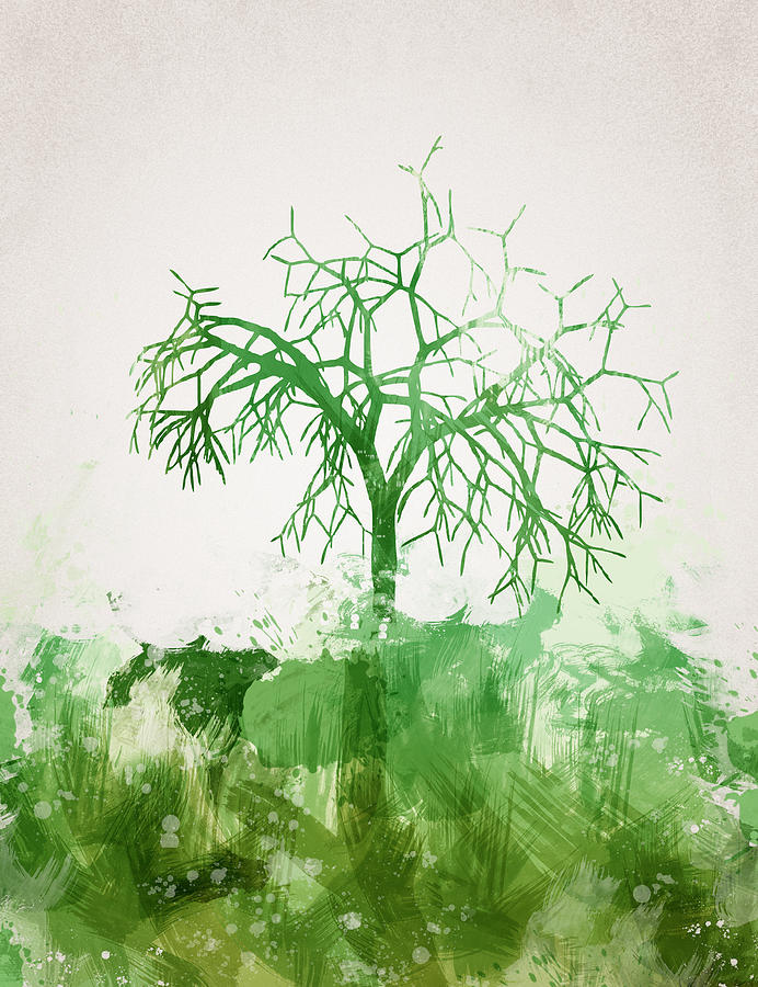 Abstract Digital Art - The Dead Tree by Aged Pixel