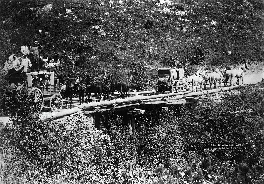 1889 Photograph - The Deadwood Coach, 1889 by Granger