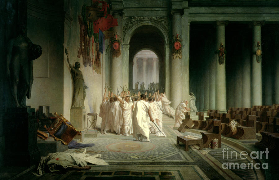 The Death Of Caesar Painting - The Death Of Caesar by Jean Leon Gerome