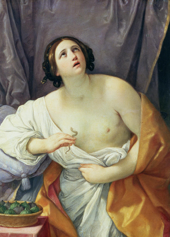 Asp Painting - The Death Of Cleopatra by Guido Reni