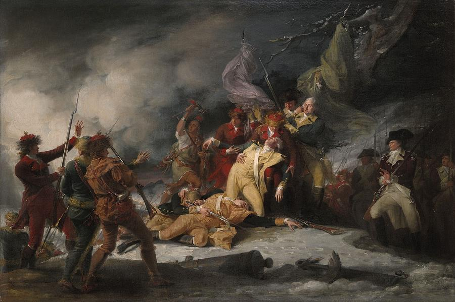 Death Photograph - The Death Of General Montgomery In The Attack On Quebec, December 31, 1775, 1786 Oil On Canvas by John Trumbull