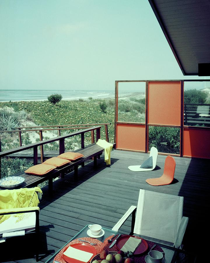 The Deck Of A Beach House Photograph by George De Gennaro