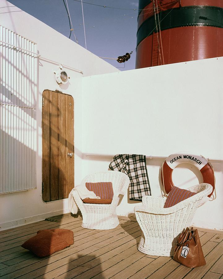 The Deck Of The Ocean Monarch Photograph by Tom Leonard
